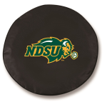 North Dakota State Bison Black Tire Cover by HBS
