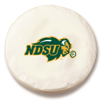 North Dakota State Bison White Tire Cover By HBS