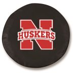 Nebraska Cornhuskers Black Spare Tire Cover By HBS