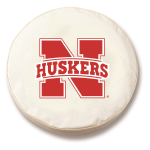 Nebraska Cornhuskers White Spare Tire Covers By HBS