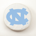 North Carolina Tar Heels White Tire Cover By HBS
