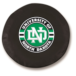 North Dakota Black Spare Tire Cover By HBS
