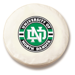 North Dakota White Spare Tire Cover By HBS