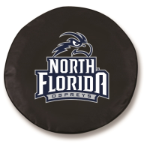 North Florida Ospreys Black Spare Tire Cover By HBS