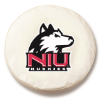 Northern Illinois Huskies White Spare Tire Cover By HBS