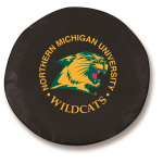 Northern Michigan Wildcats Black Spare Tire Cover By HBS
