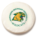 Northern Michigan Wildcats White Spare Tire Cover By HBS