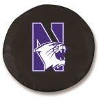 Northwestern Wildcats Black Spare Tire Cover By HBS