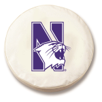 Northwestern Wildcats White Spare Tire Cover By HBS