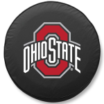 Ohio State Buckeyes Black Spare Tire Cover By HBS