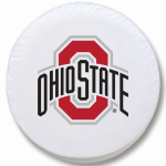 Ohio State Buckeyes White Spare Tire Cover By HBS