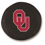 Oklahoma Sooners Black Spare Tire Cover By HBS