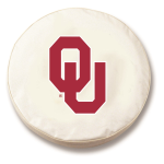 Oklahoma Sooners White Spare Tire Cover By HBS