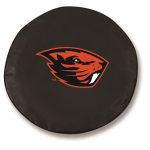 Oregon State Beavers Black Spare Tire Cover By HBS