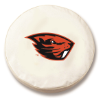 Oregon State Beavers White Spare Tire Cover By HBS