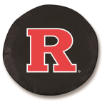 Rutgers Scarlet Knights Black Spare Tire Cover By HBS