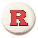 Rutgers Scarlet Knights White Spare Tire Cover By HBS