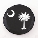 South Carolina Flag Black Spare Tire Cover By HBS