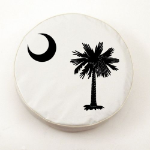 South Carolina Flag White Spare Tire Cover By HBS