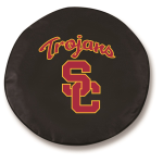 USC Trojans College Black Spare Tire Cover By HBS
