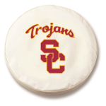 USC Trojans College White Spare Tire Cover By HBS