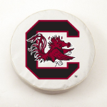 South Carolina Gamecocks White Spare Tire Cover By HBS