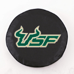 South Florida Bulls Black Spare Tire Cover By HBS