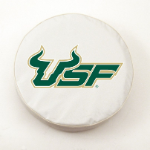 South Florida Bulls White Spare Tire Cover By HBS