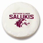 Southern Illinois Salukis White Spare Tire Cover by HBS