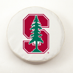 Stanford Cardinals White Spare Tire Cover By HBS