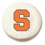 Syracuse Orangemen White Spare Tire Cover By HBS
