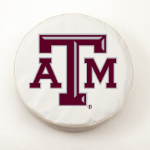 Texas A&M Aggies White Spare Tire Cover By HBS