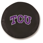 Texas Christian Horned Frogs Black Tire Cover By HBS
