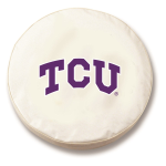 Texas Christian Horned Frogs White Tire Cover By HBS