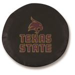 Texas State Bobcats Black Spare Tire Cover By HBS