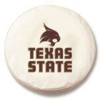 Texas State Bobcats White Spare Tire Cover By HBS