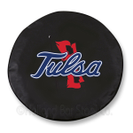 Tulsa Golden Hurricanes Black Spare Tire Cover By HBS