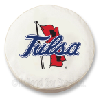 Tulsa Golden Hurricanes White Spare Tire Cover By HBS