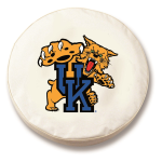 Kentucky Wildcats White Spare Tire Cover By HBS