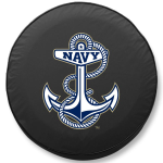 Naval Academy Charging Goats Black Tire Cover By HBS