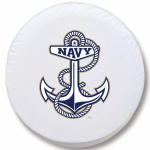 Naval Academy Charging Goats White Tire Cover By HBS