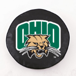 Ohio Bobcats Black Spare Tire Cover By HBS