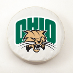 Ohio Bobcats White Spare Tire Cover By HBS