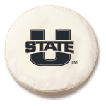 Utah State Aggies White Spare Tire Cover By HBS