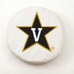 Vanderbilt Commodores College White Tire Cover By HBS