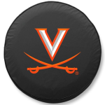 Virginia Cavaliers College Black Spare Tire Cover By HBS