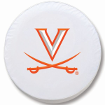 Virginia Cavaliers White Spare Tire Cover By HBS