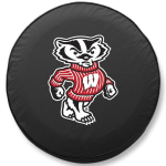 Wisconsin Bucky Badgers Black Spare Tire Cover By HBS