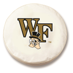 Wake Forest Demon Deacons White Tire Cover By HBS
