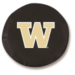Washington Huskies Black Spare Tire Cover By HBS